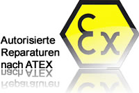 Authorisierte Reparaturen nach ATEX