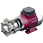 Small centrifugal pumps, magnetic coupled